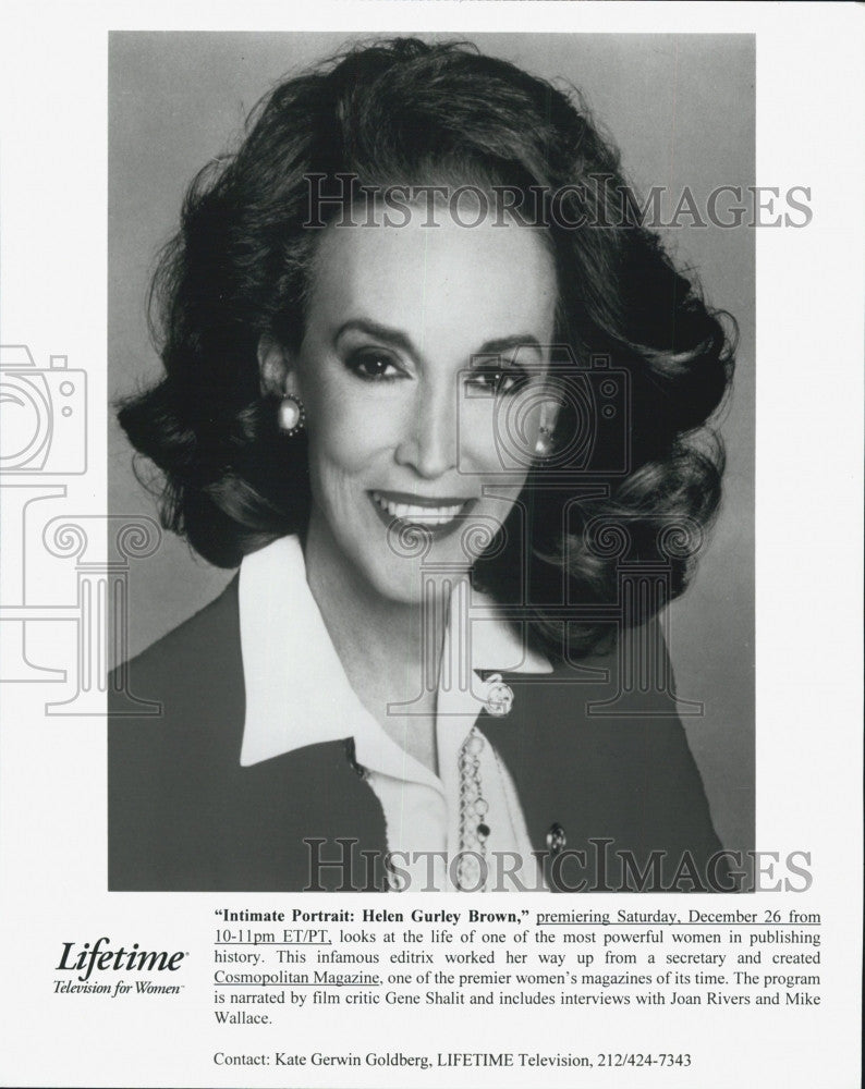 "Press Photo ""Intimate Portrait: Helen Gurley Brown"" Lifetime Movie Joan Rivers - Historic Images"