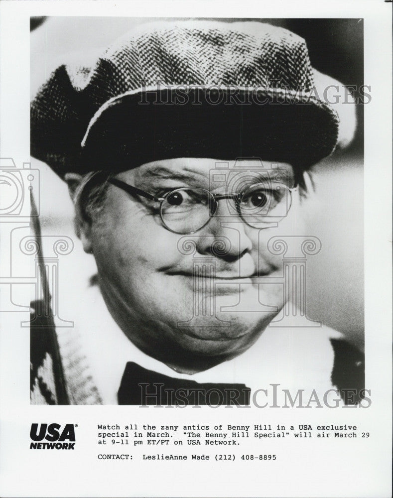 "1989 Press Photo ""The Benny Hill Show"" - Historic Images"