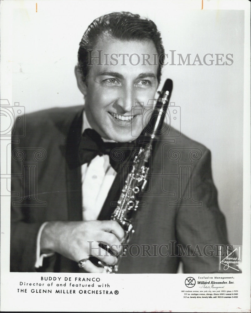 1971 Press Photo Buddy De Franco with the Glenn Miller Orchestra - Historic Images