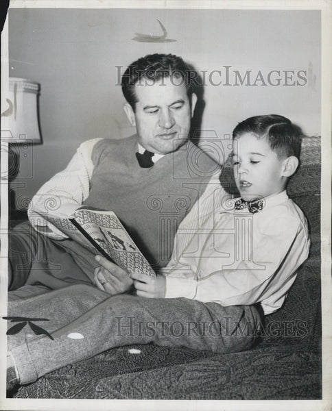 1952 Press Photo St. Louis Cardinals Baseball Couach Joe Kuharich and Son - Historic Images