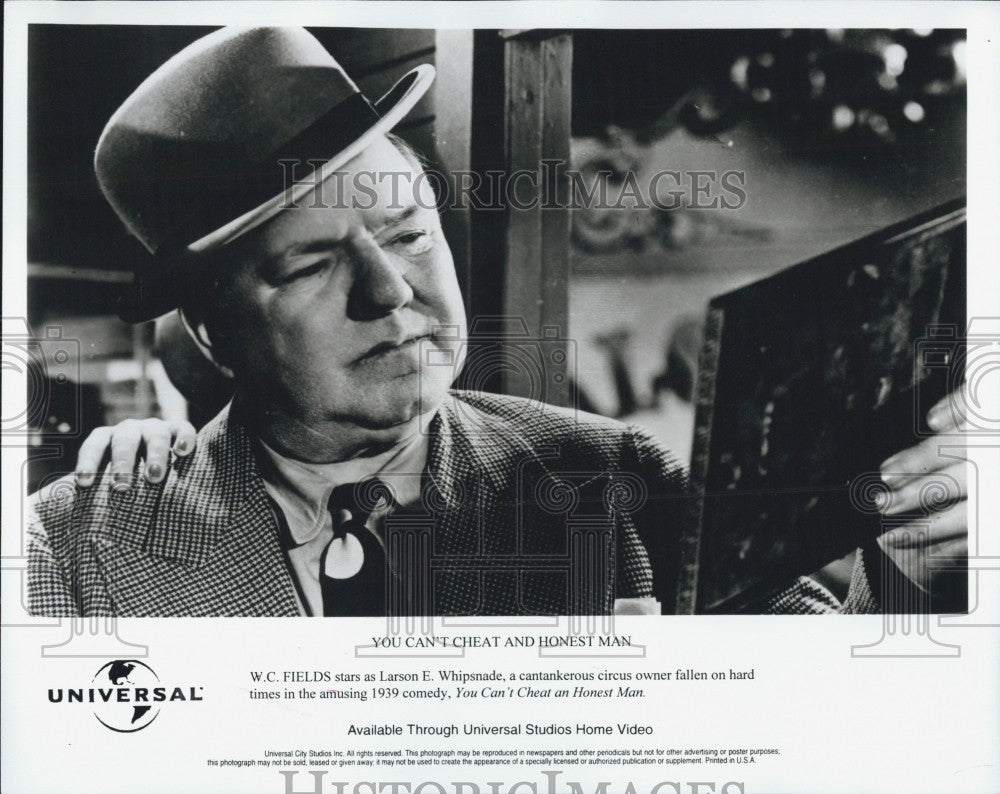 "Press Photo ""You Can't Cheat An Honest Man"" WC Fields Television Actor - Historic Images"