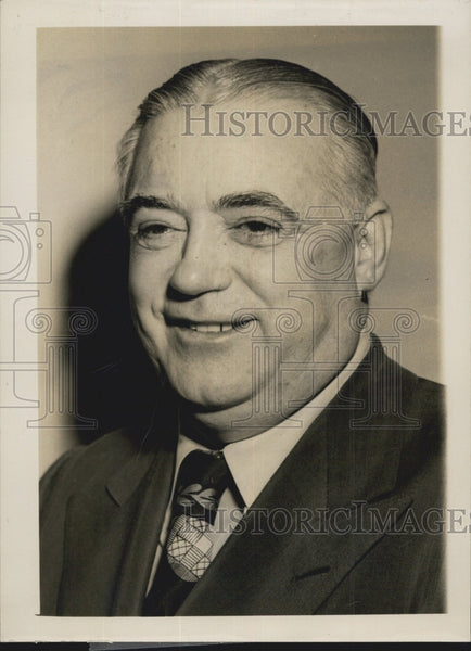 1949 Press Photo Bill Corum New York Sportswriter - Historic Images