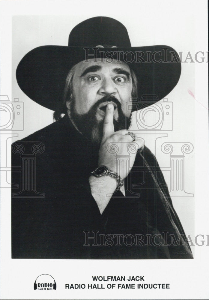 Press Photo Disc Jockey Wolfman Jack for Radio Hall of Fame Inductee - Historic Images