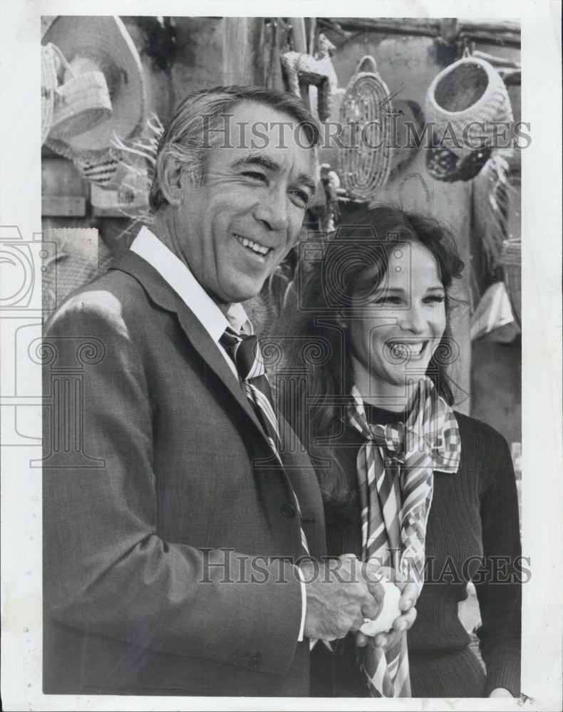 "1971 Press Photo Anthony Quinn & Janice Rule ""The Man & The City"" - Historic Images"