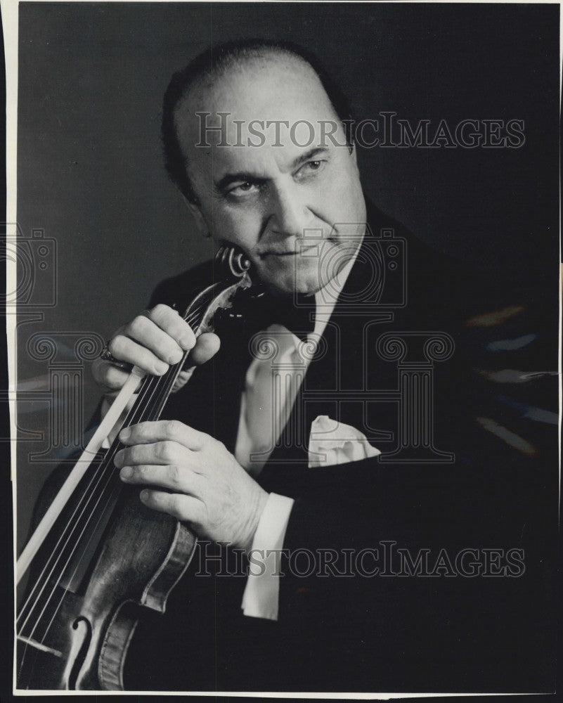 1963 Press Photo Violinist,  Rubininoff to perform - Historic Images