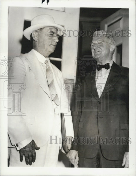 1939 Press Photo Adm. William D. Leahy, Adm. Harold R. Stark at White House - Historic Images