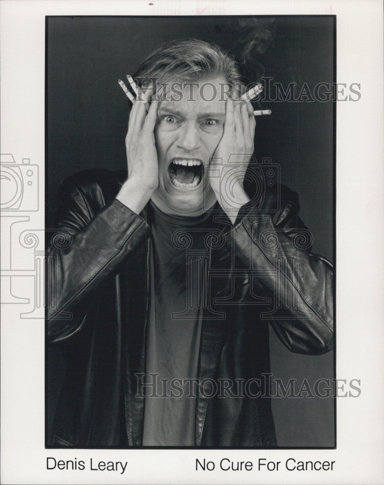 "1997 Press Photo Denis Leary Television Film Actor ""No Cure For Cancer"" Ad - Historic Images"