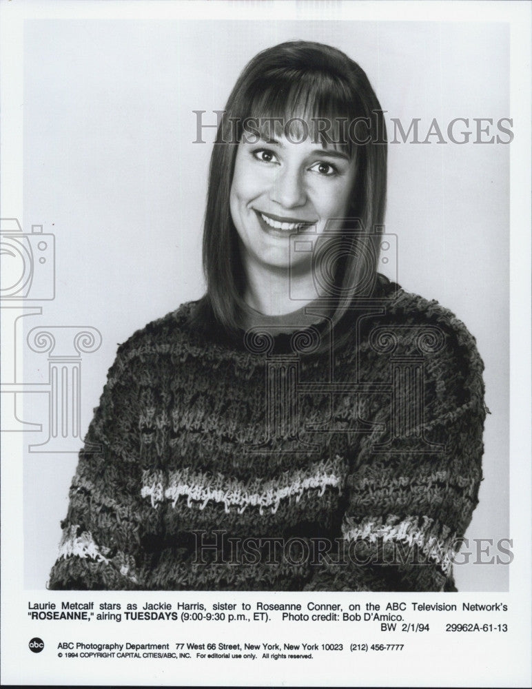 "1994 Press Photo Laurie Metcalf in ""Rosanne"" - Historic Images"