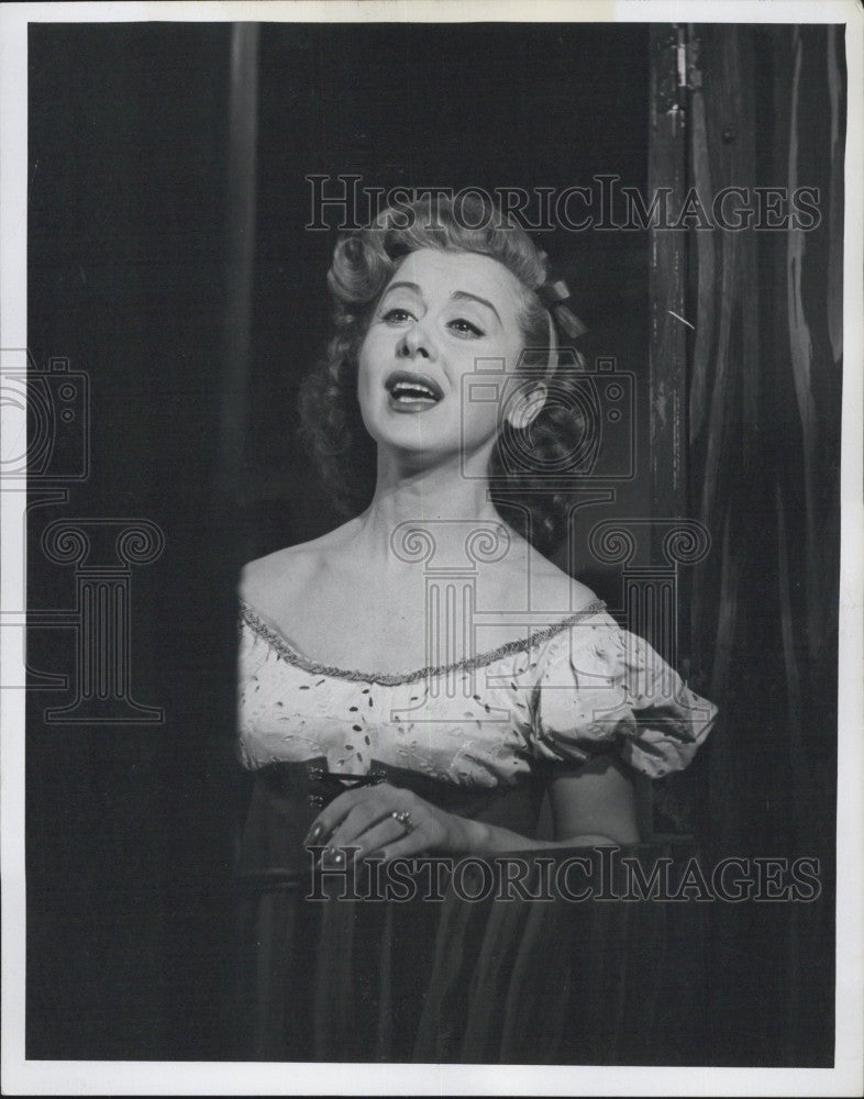 1958 Press Photo Singer Helen Grayco - Historic Images