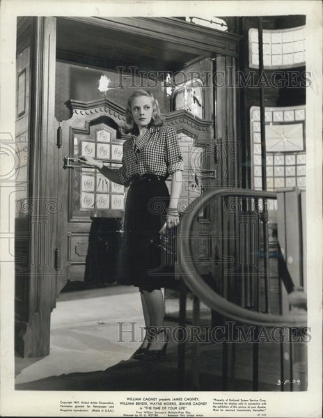 "1947 Press Photo Actress Jeanne Cagney in ""The Time of Your Life"" Film - Historic Images"