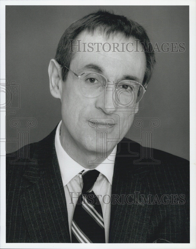 Press Photo American Talk Radio Host In Boston, David Brudnoy WBZ Radion 1030 - Historic Images