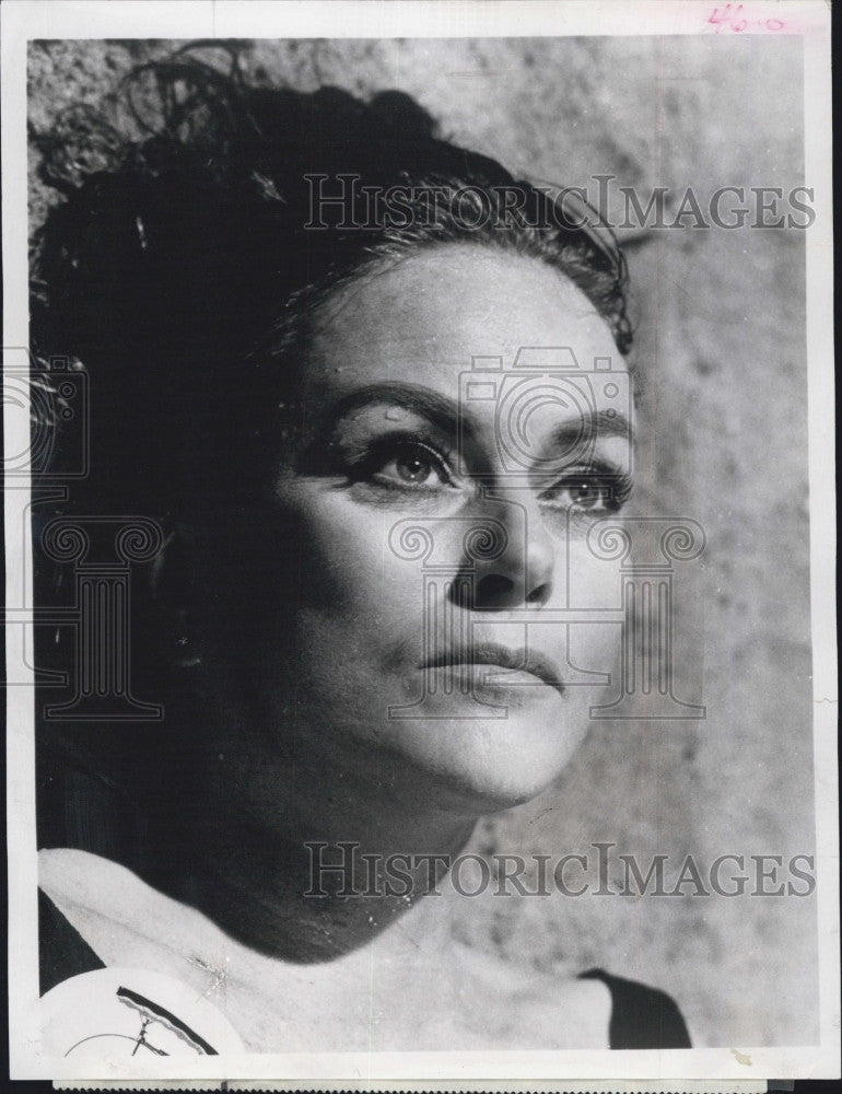 "1968 Press Photo Nadia Gray in ""The Prisoner"" - Historic Images"