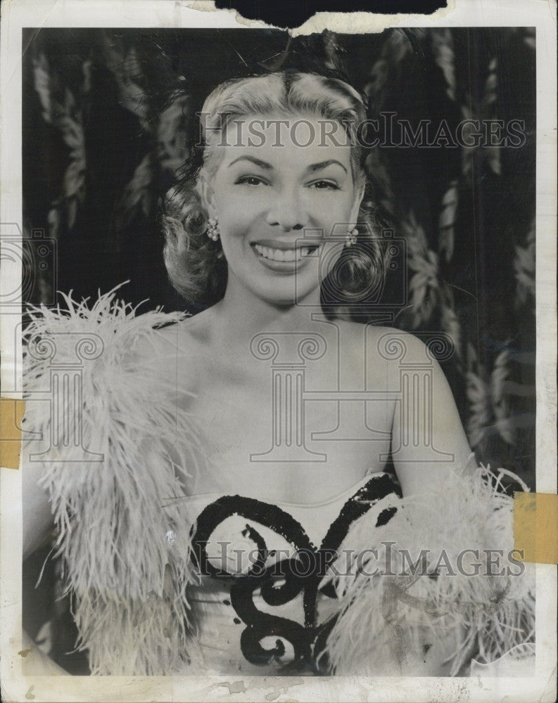 "1959 Press Photo Dolores Gray ""Buick Circus Hour"" Film Television Actor - Historic Images"