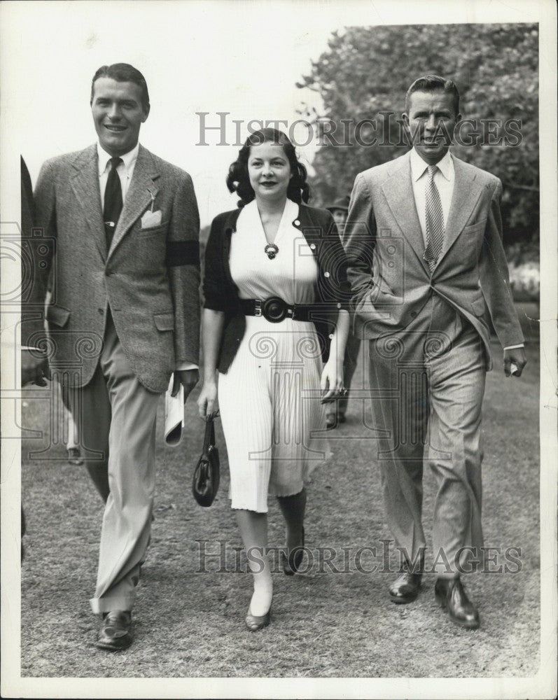 1939 Press Photo Actor Bruce Cabot Eleanor Young Robert Bacon - Historic Images