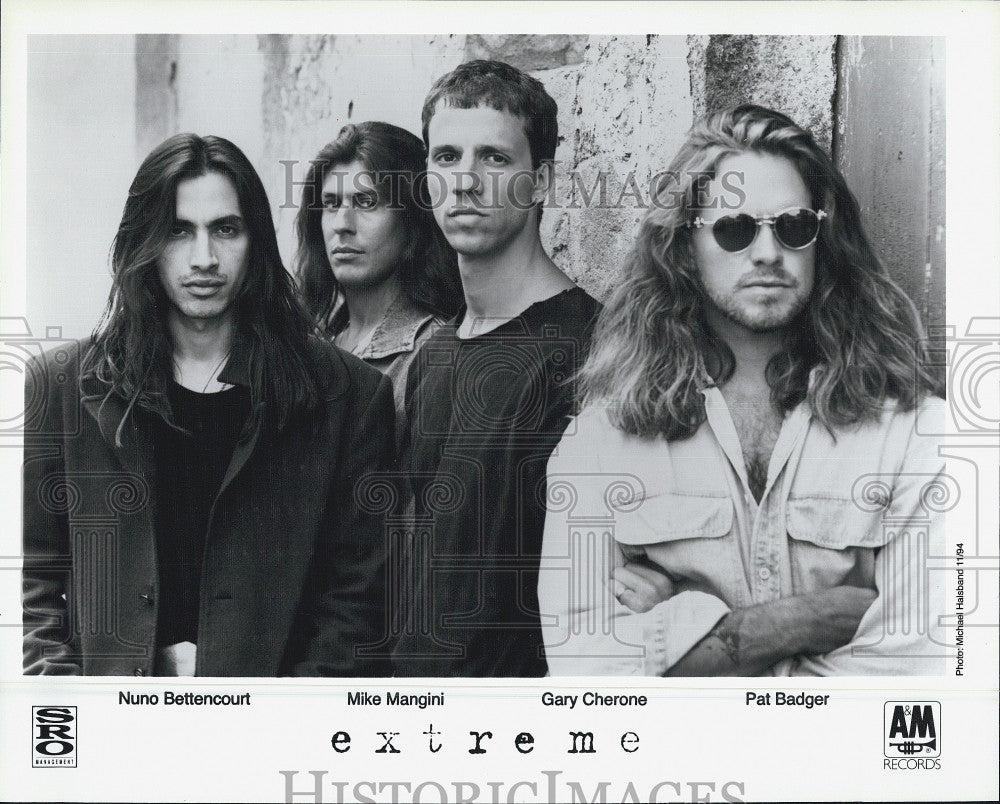1994 Press Photo Nuno Bettencourt, Mike Mangini, Gary Cherone and Pat Badger - Historic Images