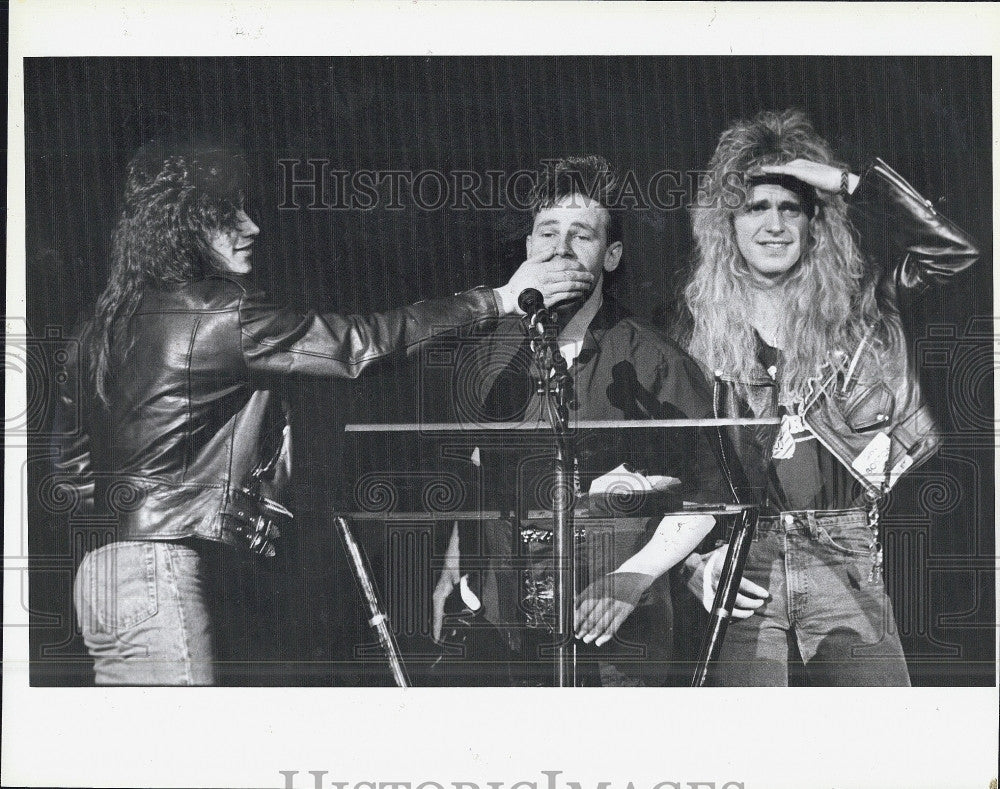 1989 Press Photo Outstanding Rock act won by Extreme at Boston Music awards - Historic Images