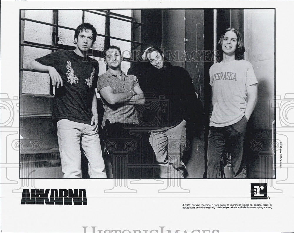 1997 Press Photo Music group, Arkarna on Reprise records - Historic Images