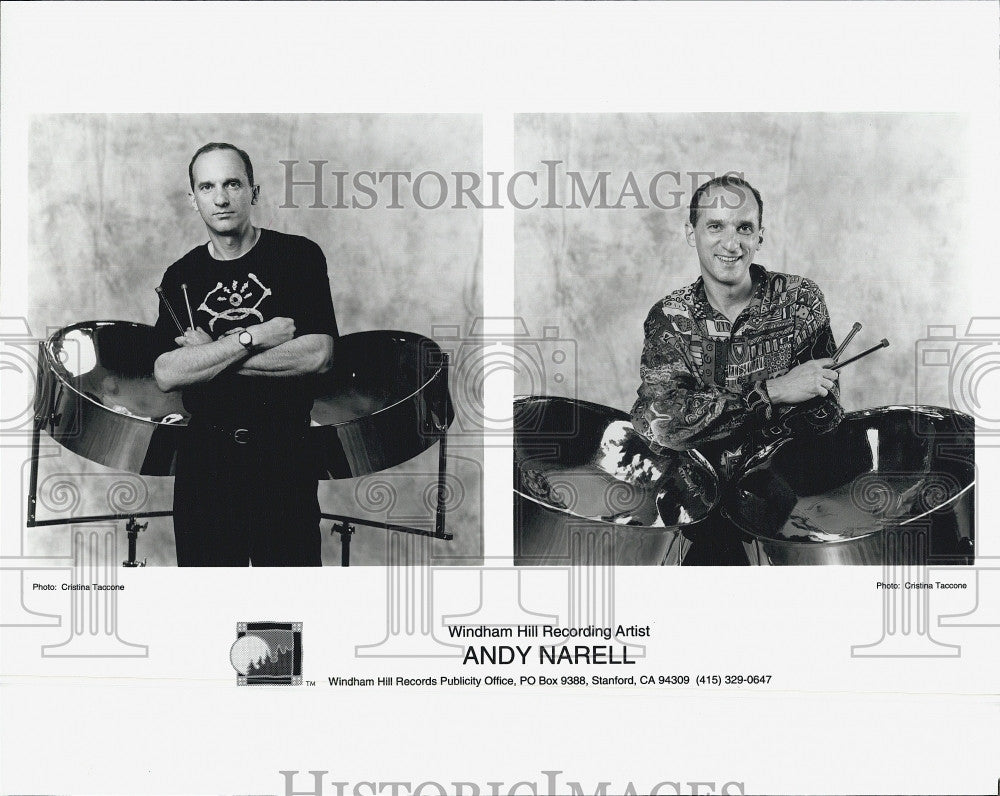 1995 Press Photo Windham Hill Recording Artist Andy Narell - Historic Images