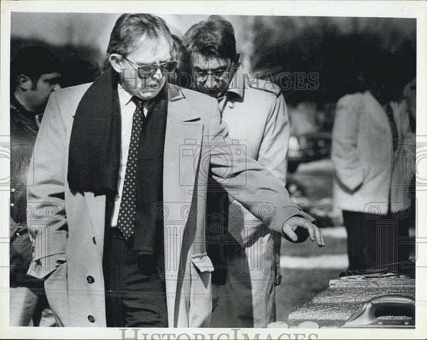 1985 Press Photo Funeral of Nicholas Colosanto in Rhode Island - Historic Images