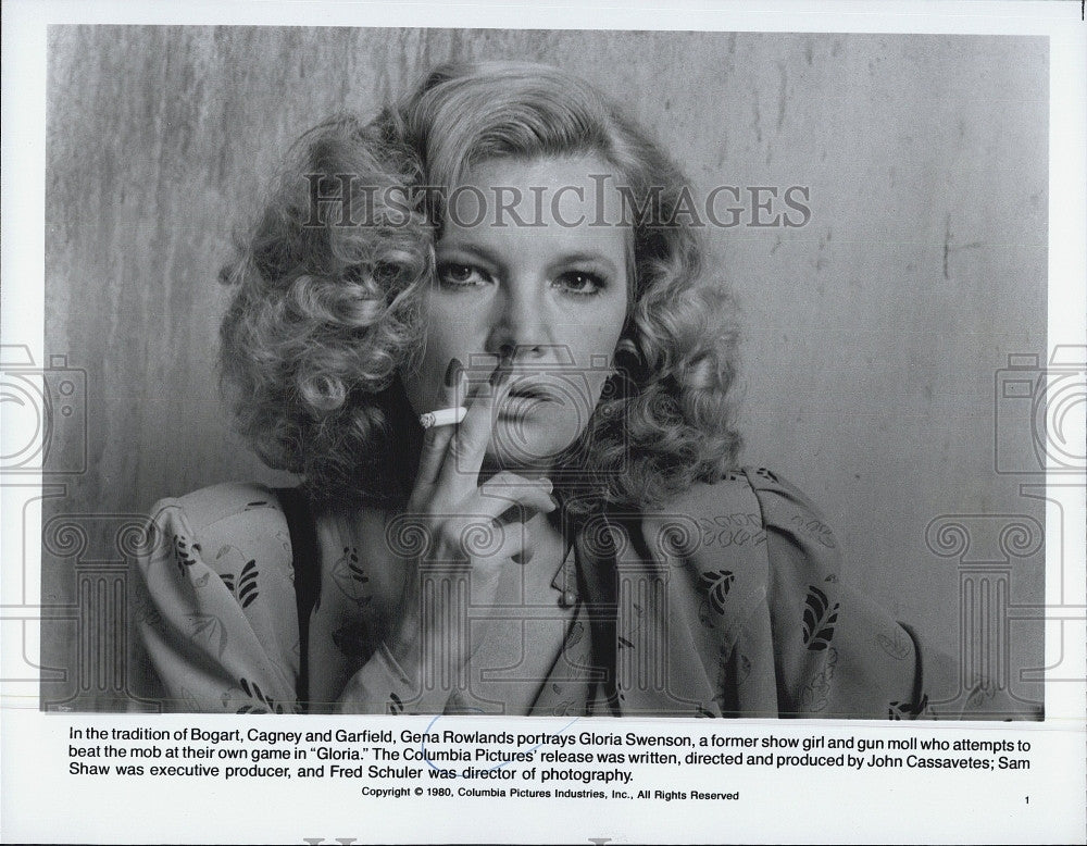 "1980 Press Photo Gena Rowlands in ""Gloria"" - Historic Images"