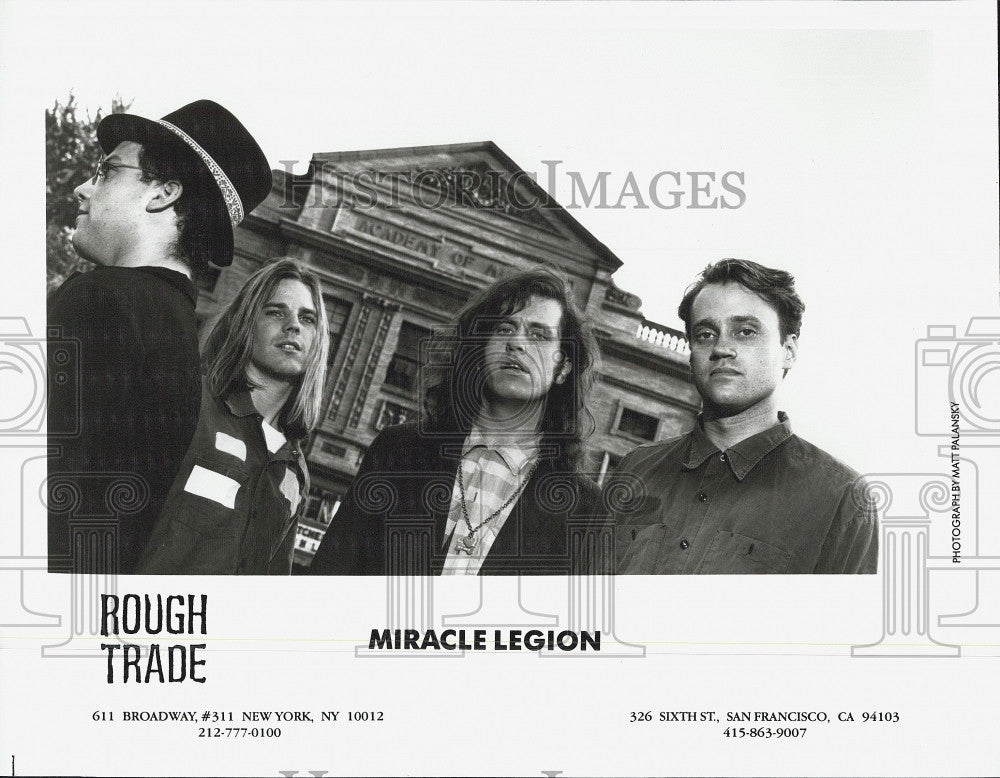 Press Photo Members Of Music Group Miracle Legion - Historic Images