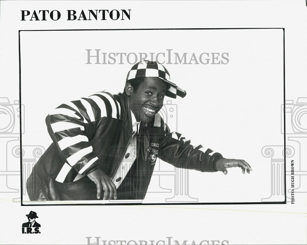 Press Photo IRS Records Pato Banton Music Recording Artist - Historic Images