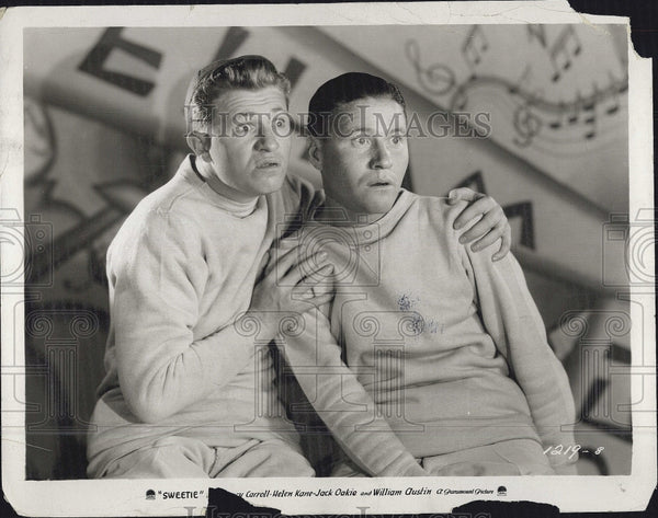 "1929 Press Photo Actor Jack Oakie and Stuart Erwin in ""Sweetie"" - Historic Images"