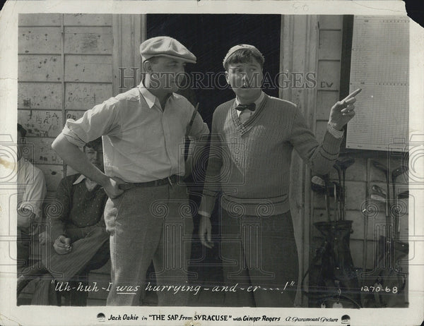 "1930 Press Photo Jack oakie in ""The Sap from Syracuse"" - Historic Images"