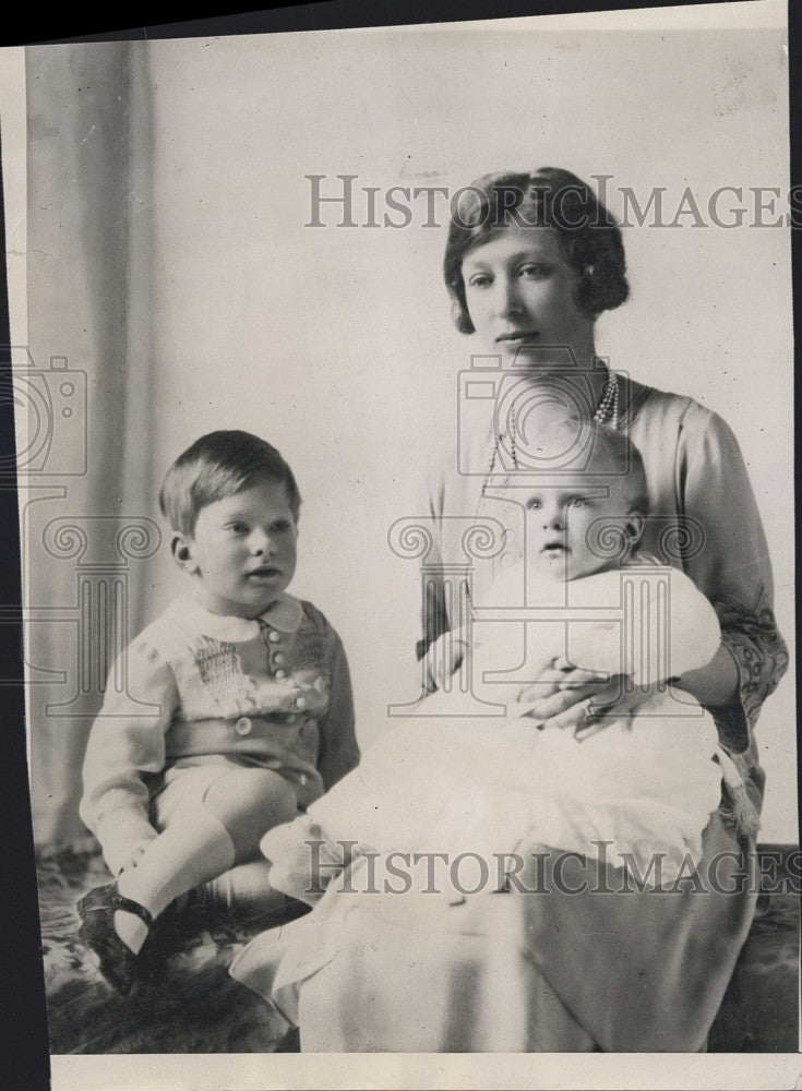 1926 Press Photo Princess Mary of England & sons George & Gerald - Historic Images