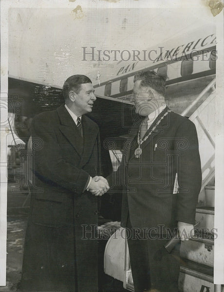 1956 Press Photo Denis Larkin Lord Mayor Of Dublin Ireland - Historic Images
