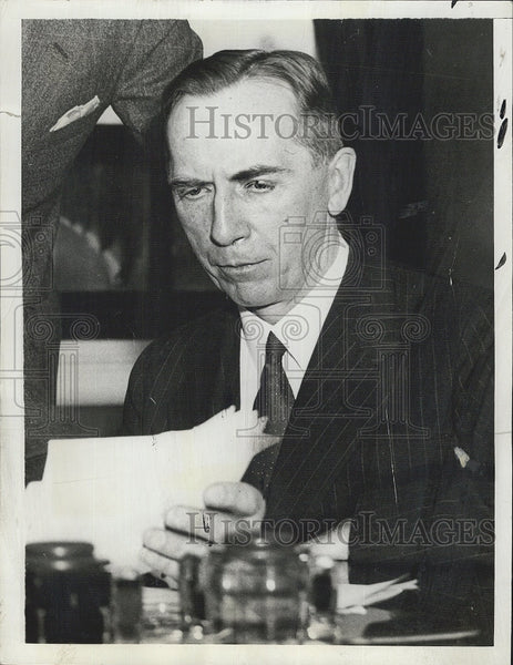 1938 Press Photo Captain Royal Ingersoll Commander Of US Atlantic Fleet - Historic Images