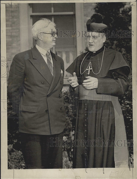 1947 Press Photo Captain Dennis ireland Belfast Irish Protestant Copley Plaza - Historic Images