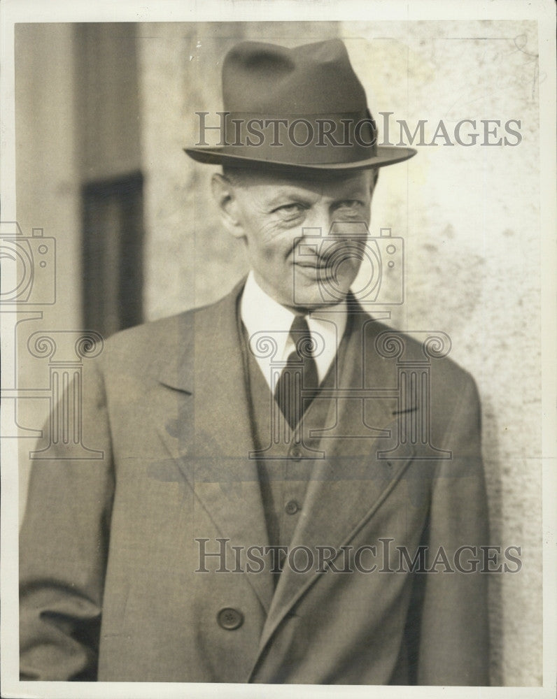 1934 Press Photo Norman Brighton Father Of Norman Miller - Historic Images