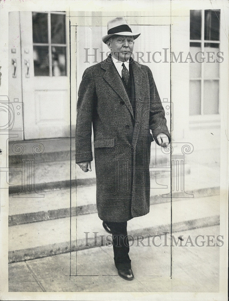 1935 Press Photo Governor Louis Brann Leaving White House - Historic Images