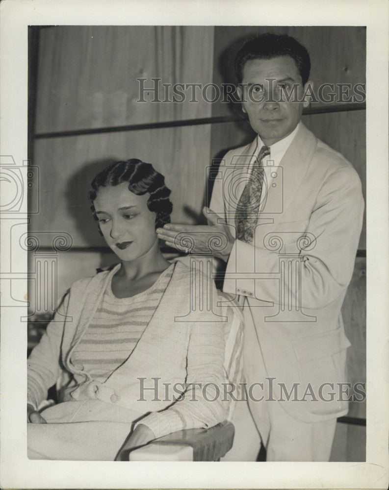 1931 Press Photo Dolores Cordoba,dancer & her new coiffure - Historic Images