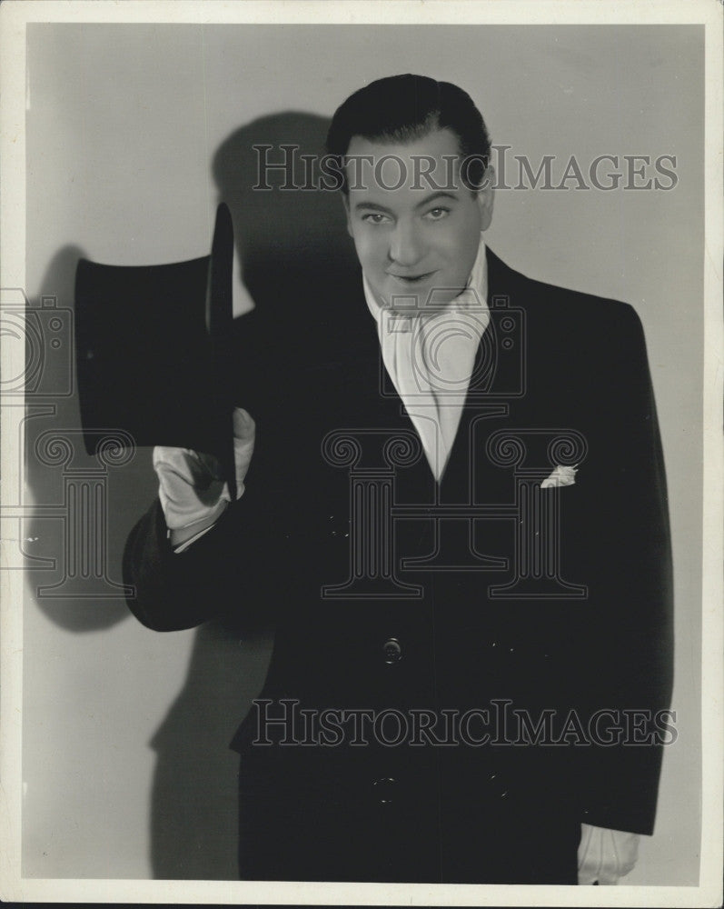 1934 Press Photo Alan Mason Dinehart Broadway Actor, Director And Writer - Historic Images