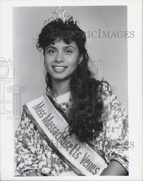 Press Photo Debbie Reyes Miss Massachusetts Venus - Historic Images