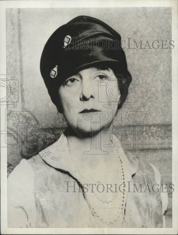 1934 Press Photo Actress Gladys Wallis Wife Magnate Samuel Insull - Historic Images
