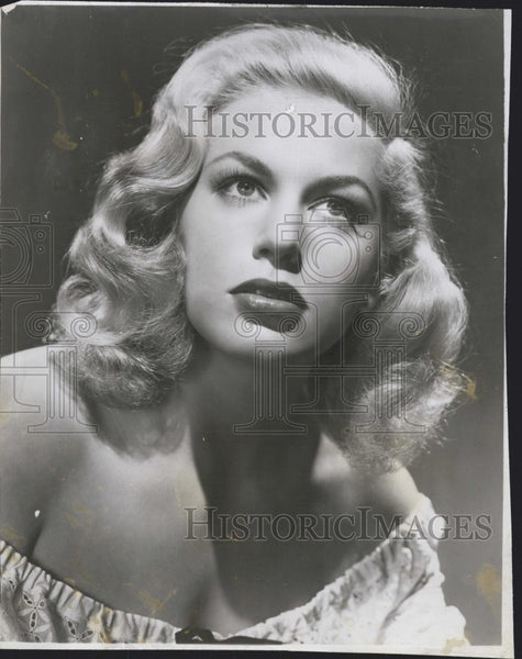 1950 Press Photo Actress Joan Diener Stars in Comedy Season in the Sun - Historic Images