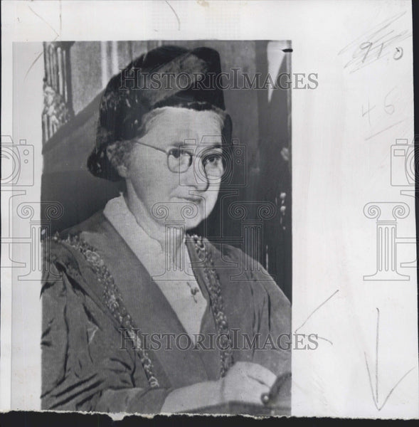 1958 Press Photo Mayoress Catherine Byrne of Dublin  Ireland - Historic Images