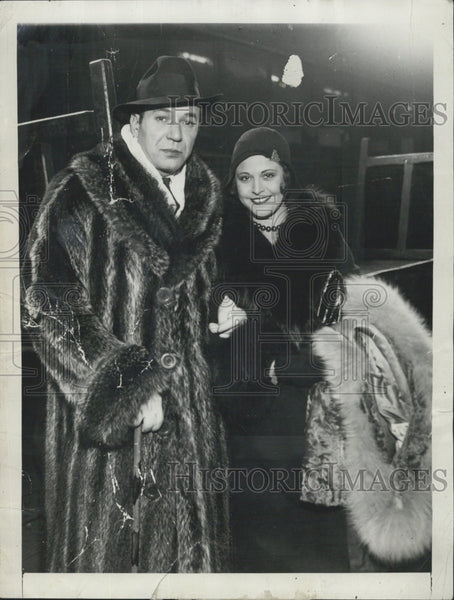 1930 Press Photo Singer/Entertainer Harry Richman With Actress Lina Basquette - Historic Images