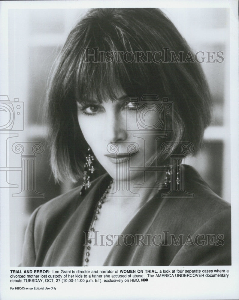 "Press Photo Director and Narrator Lee Grant in ""Women On Trial""  Documentary - Historic Images"