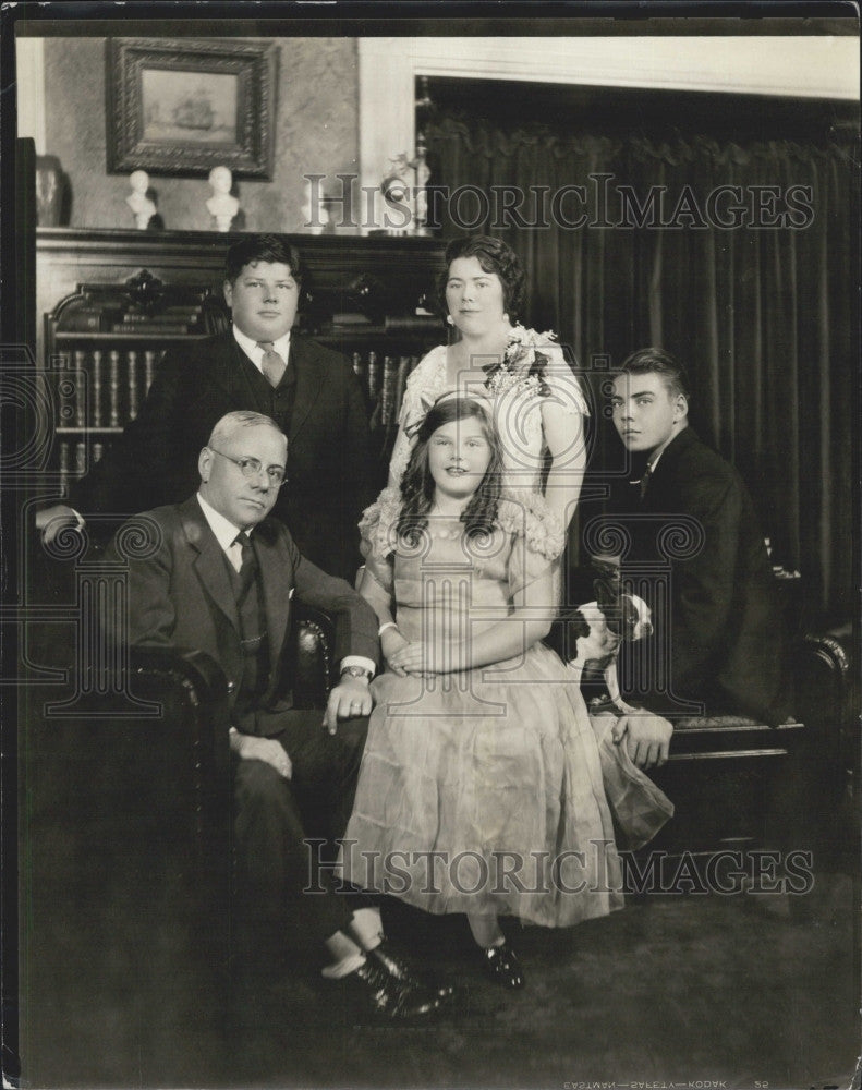 1923 Press Photo Mayor Malcolm Nichols and Family - Historic Images