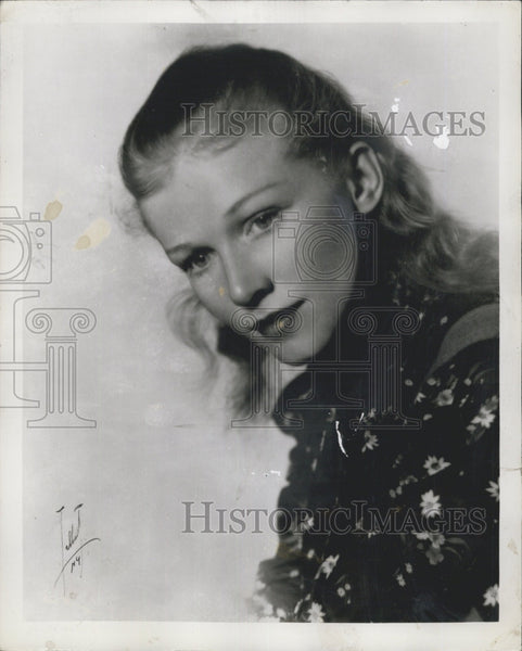 1950 Press Photo Actress Julie Haydon - Historic Images