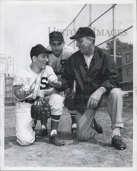 1969 Press Photo Somerville Baseball Coach John Donaghue, Chuck Paglierani - Historic Images