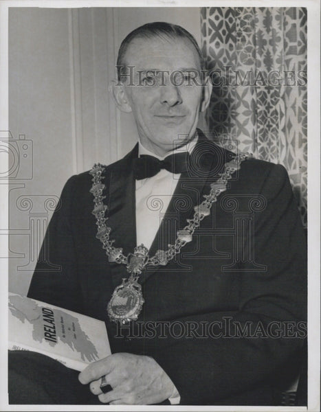 1963 Press Photo Mayor James Gannon of Sligo Ireland - Historic Images
