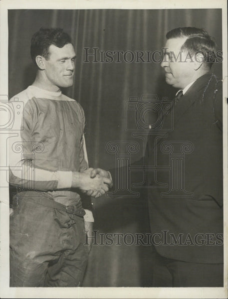 1931 Press Photo Holy Cross football captain James Ryan & Coach John McEwan - Historic Images