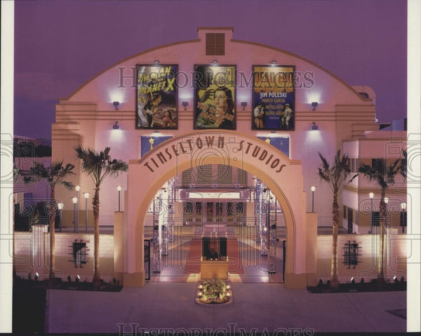 1999 Press Photo Tinseltown Studios Building in Anaheim, California - Historic Images