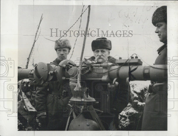 1940 Press Photo Finnish Pres Kyosti Kallio and military officers - Historic Images
