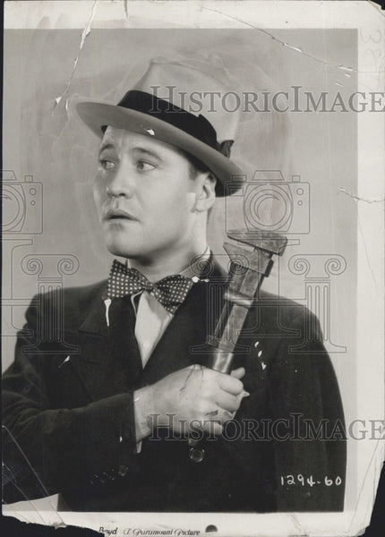 1931 Press Photo Actor Jack Okie Movie The Gang Buster - Historic Images